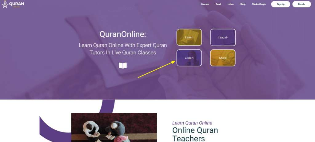 how to listen to the whole quran online with quranonline.com for free